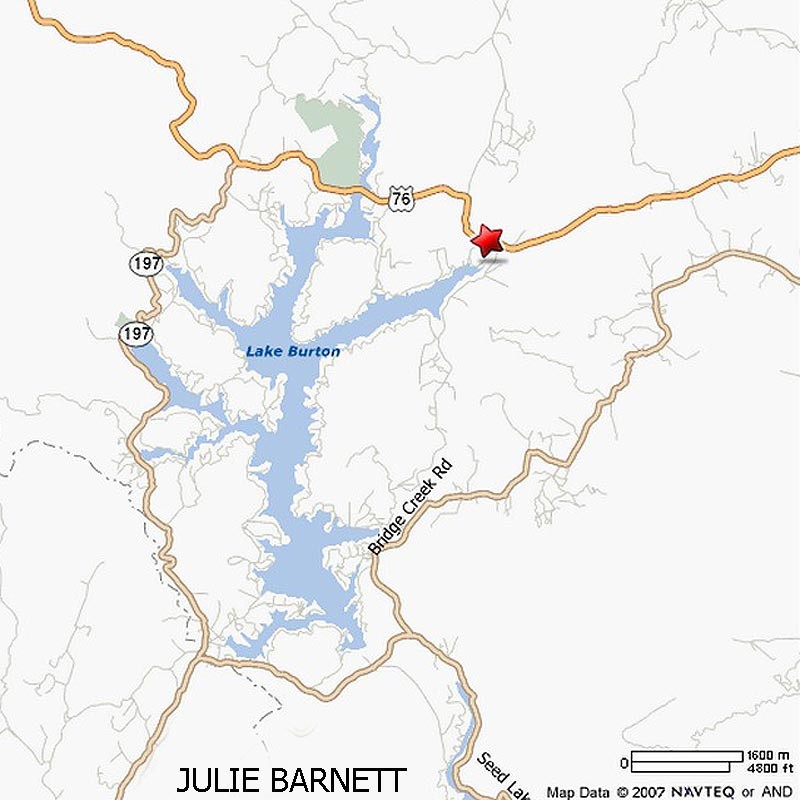 lake burton ga map Lake Burton Maps And Views lake burton ga map